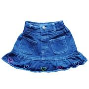Джинсовая юбка с сердечками фото
