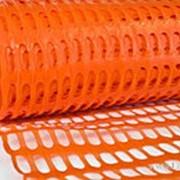 Пластиковая аварийная сетка 2х25 м,ячейка 40х45мм (оранжевый) фото