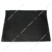 Коврик входной резиновый черный Вафелька ~40х60 №885155 фото