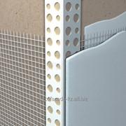 Профиль угловой ПВХ с армирующей сеткой фото