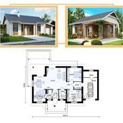 Коробка одноэтажного дома, общей площадью - 160,0 м² фото