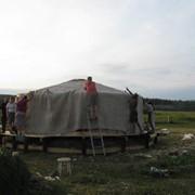 Шатровая крыша из брезента Украина фото