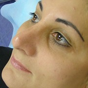Перманентный макияж нижних век (внутренний каял) фото
