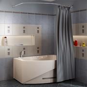 Карниз Chrome для шторки на ванну Монти фото