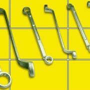 Ключ гаечный кольцевой двусторонний коленчатый фото