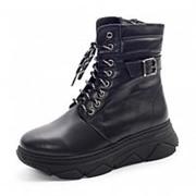 Ботинки женские KSKS-944_2-kurk-1/Z зима натуральная кожа черный фото