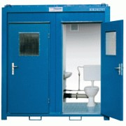 Блок-туалет 5 футовый двойной со смывной системой фото