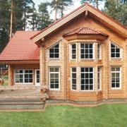 Коттеджное строительство. Дом из дерева под ключ. фото
