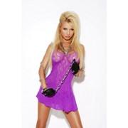 Фиолетовое кружевное платьице E-8576 фото
