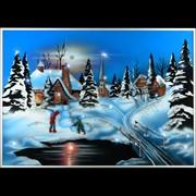 Картина Зимний вечер Swarovski фото