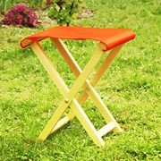 """Стульчик туристический, кресло туристическое, Кріселко туристичне з тканиною """""""" фото"""