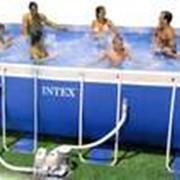 Прямоугольный каркасный бассейн Intex фото