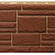 Фасадная панель Т-сайдинг Дикий камень Коричневый фото