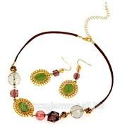 Бижутерия ожерелье и серьги фото