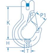 Крюк с защелкой, типа G80. 6-8; 7/8-8; 10-8; 13-8; 16-8, грузоподъемность 1,2; 2,0; 3,2; 5,3; 8,0 тонн фото