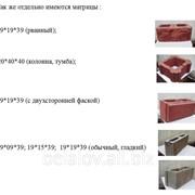 Матрицы для оборудования, станков по производству сплитерных блоков и тротуарной плитки фото