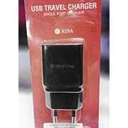 BA19A borofone Адаптер сетевое зарядное для телефона фото