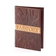 Обложка для паспорта Роза ветров (натуральная кожа) фото