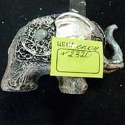 Сувенир Слон с метализированным покрытием 2320 9,5х6см фото
