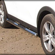 Пороги Suzuki Grand Vitara 2008-2011 3 дв. (труба с проступью 76 мм) фото