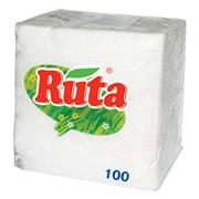 Салфетки бумажные Рута (Ruta) 240х240 100 л. белые фото