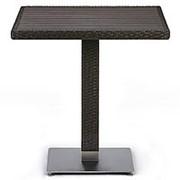 Плетеный стол T607D-W53-70x70 Brown фото