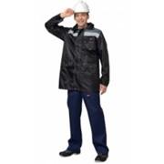 Куртка Эридан удлиненная черная с серой отделкой и СОП фото