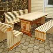 Стол с лавками Дачная и садовая мебель фото
