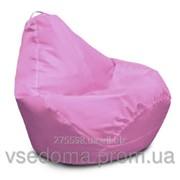 Розовое кресло-мешок груша 120*90 см из ткани Оксфорд розовый фото
