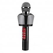 Беспроводной караоке микрофон ZBX-918 (Bluetooth, USB, TF card, AUX, цветомузыка) (Черный) фото