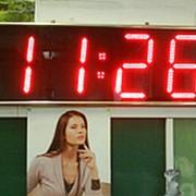 Уличные светодиодные часы K210R фото
