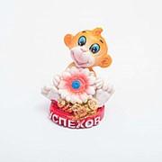 Статуэтка Обезьянка с цветком 4 см фото