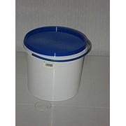 Ведро пластиковое(белое) 3л,пищевое фото
