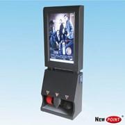 Аппарат для чистки обуви с рекламным с LCD дисплеем фото
