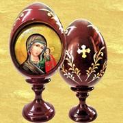 Яйцо деревянное лаковое Казанская Божия Матерь фото
