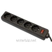 Фильтр питания Defender ES 5 м, 5 розеток Черный (99486), код 132975 фото