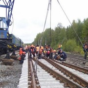 Строительство и ремонт железнодорожного пути фото