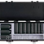 Набор головок 6-гранных глубоких, ударных 11 пр. - 12-32 мм 1/2 Код:4119 фото