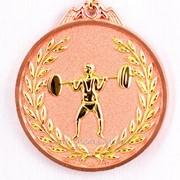Медаль рельефная тяжелая атлетика - бронза фото