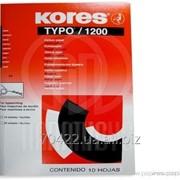 Бумага копировальная А4 TYPO/1200 Kores, 10 листов, черная фото
