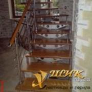 Лестницы маршевые с фрезеровками фото