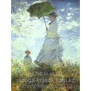 Картина по номерам Клод Моне Прогулка леди с зонтиком фото