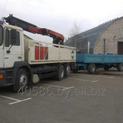 Перевозка грузов с краном-манипулятором фото