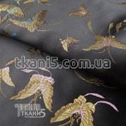 Ткань Ткань атлас с рисунком ( бабочки ) 2460 фото