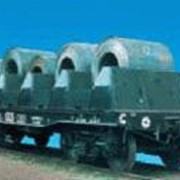 Вагон-платформа для листовой стали модель 13-4094, Вагоны грузовые платформы фото