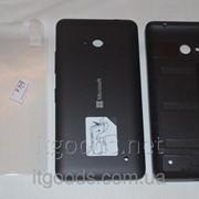Задняя черная крышка для Microsoft Lumia 640 + ПЛЕНКА В ПОДАРОК фото