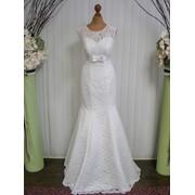 Кружевное свадебное платье-рыбка фото