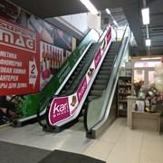 Оклейка эскалаторов фото