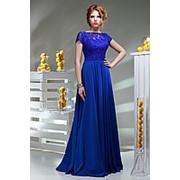 Платье вечернее синее НИКОЛЕТТА фото