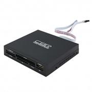 "Картридер CBR CR-601, Internal Card Reader 3.5"", All-in-one, 1 доп.порт USB фото"
